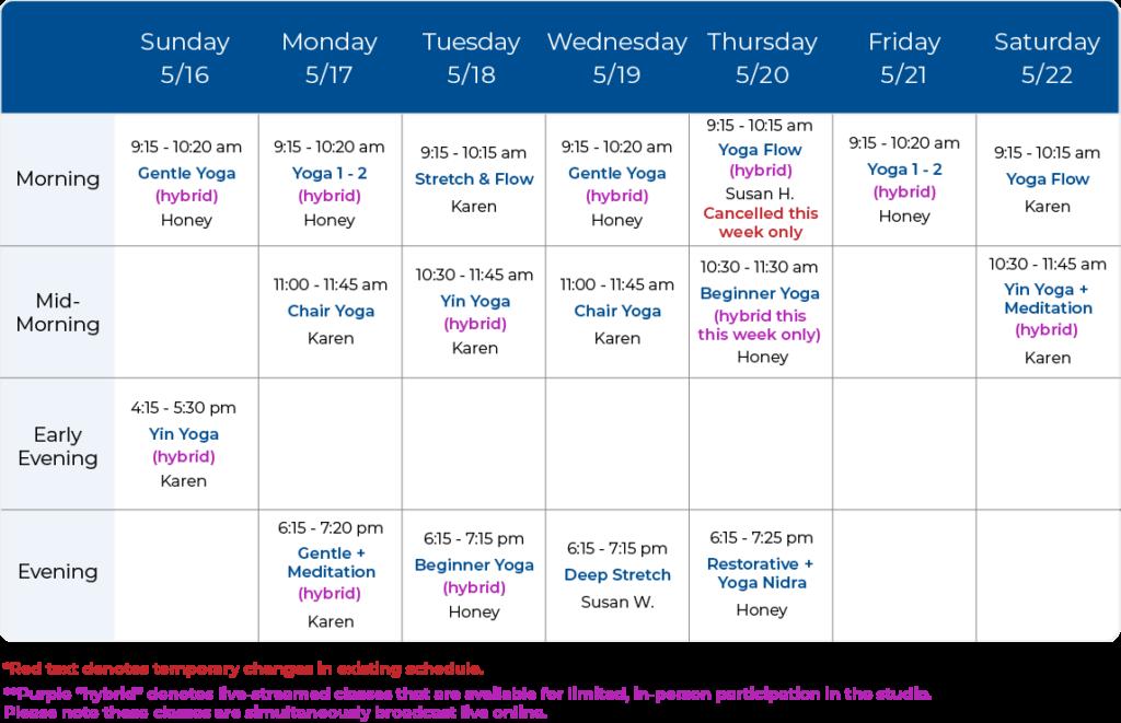 Yoga Balance Schedule 05-16-21