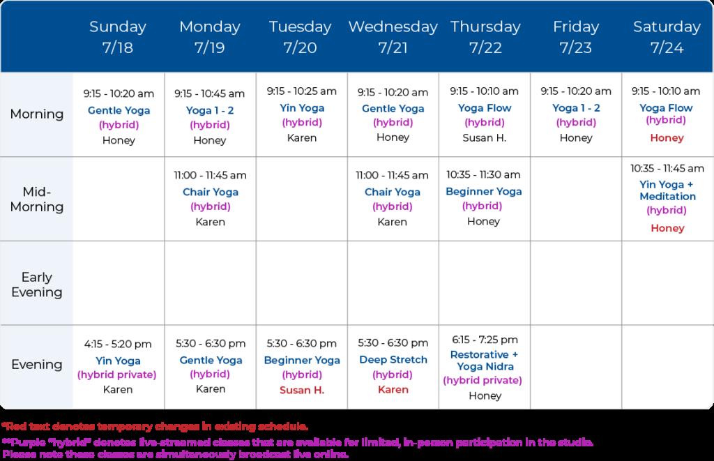 Yoga Balance Schedule 07-18-21