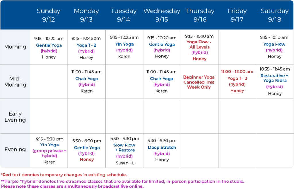 Yoga Balance Schedule 09-12-21